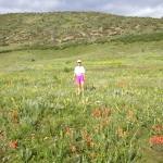 Spring Flowers, Bear Tracks and Running (Fast!)  at Hildebrand Ranch Park.